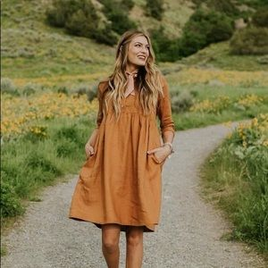 The Delacour Dress in Copper